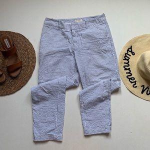 Merona | Pin Striped Seersucker Skinny Trousers